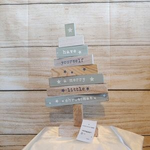 NWT Wooden Tree Christmas Decor